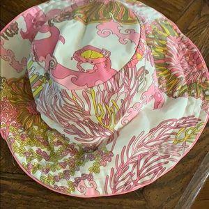 Nanette Lenore beachy🏝bucket hat-preppy pink/grn